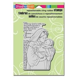Stampendous - Cling Mounted Rubber Stamp - Mother Mary