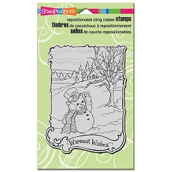 Stampendous - Cling Mounted Rubber Stamp - Warmest Wishes
