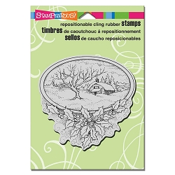 Stampendous - Cling Mounted Rubber Stamp - Winter Home
