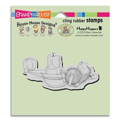 Stampendous Cling Mounted Rubber Stamps - House Mouse Designs - Nap By Candle Rubber Stamp