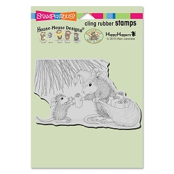 Stampendous Cling Mounted Rubber Stamps - House Mouse Designs - Gift Giving Rubber Stamp