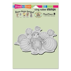 Stampendous Cling Mounted Rubber Stamps - House Mouse Designs - Ornament Collecting Rubber Stamp