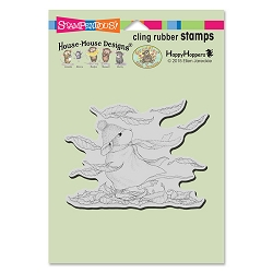 Stampendous Cling Mounted Rubber Stamps - House Mouse Designs - Autumn Winds Rubber Stamp