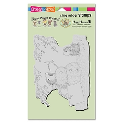 Stampendous Cling Mounted Rubber Stamps - House Mouse Designs - Hungry Snowman Rubber Stamp