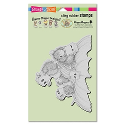 Stampendous Cling Mounted Rubber Stamps - House Mouse Designs - Paper Bag Masks Rubber Stamp