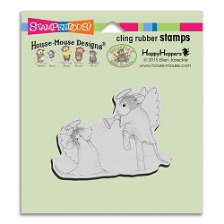 Stampendous Cling Mounted Rubber Stamps - House Mouse Designs - Trumpet Blast Rubber Stamp