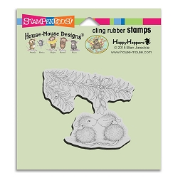Stampendous Cling Mounted Rubber Stamps - House Mouse Designs - Christmas Kiss Rubber Stamp