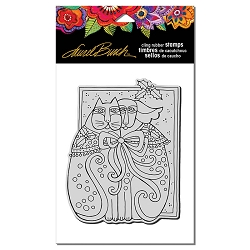 Stampendous - Laurel Burch - Cling Rubber Stamp Kindred Holiday