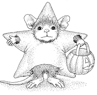 Stampendous - Cling Mounted Rubber Stamp - House Mouse Star Costume