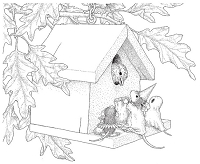 Stampendous - Cling Mounted Rubber Stamp - House Mouse Trick or Tweet