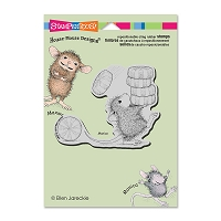 Stampendous Cling Mounted Rubber Stamps - House Mouse Carrying Mints