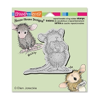 Stampendous Cling Mounted Rubber Stamps - House Mouse Mint Nibbler