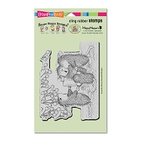 Stampendous Cling Mounted Rubber Stamps - House Mouse Candle Carolers