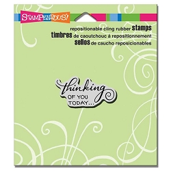 Stampendous Cling Mounted Rubber Stamps - Scrolled Thinking