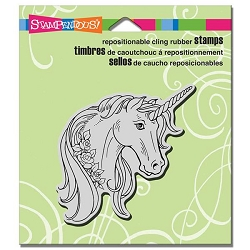 Stampendous Cling Mounted Rubber Stamps - Unicorn Rose