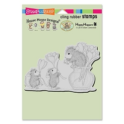 Stampendous Cling Mounted Rubber Stamps - House Mouse Designs - Flower Arranging Rubber Stamp