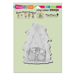 Stampendous Cling Mounted Rubber Stamps - House Mouse Designs - Party Peeking Rubber Stamp
