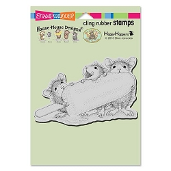 Stampendous Cling Mounted Rubber Stamps - House Mouse Designs - Ice Pop Treat Rubber Stamp