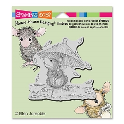 Stampendous Cling Mounted Rubber Stamps - House Mouse Designs - Confetti Showers Rubber Stamp