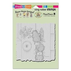 Stampendous Cling Mounted Rubber Stamps - House Mouse Designs - Doorbell Ringers Rubber Stamp