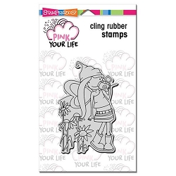 Stampendous Cling Mounted Rubber Stamps - Pink Your Life Whisper Friends Camera Girl
