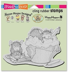 Stampendous Cling Mounted Rubber Stamps - House Mouse Designs - Cupcake Happy