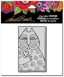 Stampendous - Laurel Burch - Cling Rubber Stamp Cat Love