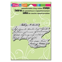 Stampendous Cling Mounted Rubber Stamps - Script Lines
