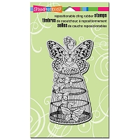 Stampendous Cling Mounted Rubber Stamps - Butterfly Aviary