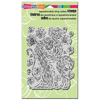 Stampendous Cling Mounted Rubber Stamps - Starry Swirls
