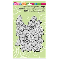 Stampendous Cling Mounted Rubber Stamps - Flower Pizazz