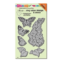 Stampendous Cling Mounted Rubber Stamps - Lilac Cling Rubber Stamp Set
