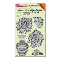 Stampendous Cling Mounted Rubber Stamps - Sunny Vase Cling Rubber Stamp Set