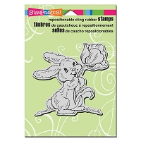 Stampendous Cling Mounted Rubber Stamps - Tulip Bunny