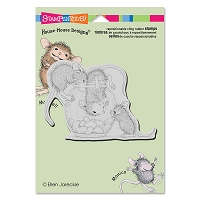 Stampendous Cling Mounted Rubber Stamps - House Mouse Designs - Treat Jar