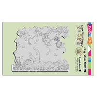 Stampendous Cling Mounted Rubber Stamps - House Mouse Designs - Pawing Petals