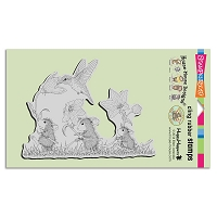 Stampendous Cling Mounted Rubber Stamps - House Mouse Designs - Tag Along Trio