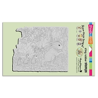 Stampendous Cling Mounted Rubber Stamps - House Mouse Designs - Carrot Garden