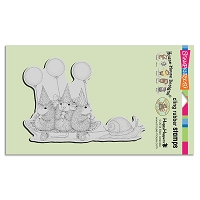 Stampendous Cling Mounted Rubber Stamps - House Mouse Designs - Slow Riders