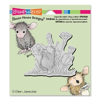Stampendous Cling Mounted Rubber Stamps - House Mouse Designs - Floral Trumpet