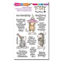 Stampendous Perfectly Clear Stamp - House Mouse Friend Wishes