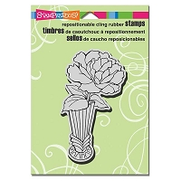 Stampendous - Cling Mounted Rubber Stamp - Vase Bloom