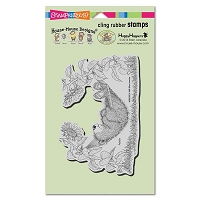 Stampendous - Cling Mounted Rubber Stamp - House Mouse Gruffies Hammock Nap