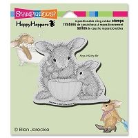 Stampendous - Cling Mounted Rubber Stamp - House Mouse Happy Hopper Mixed Up