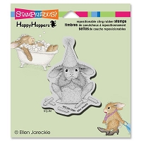 Stampendous - Cling Mounted Rubber Stamp - House Mouse Happy Hopper Cake Nibbler