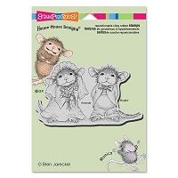 Stampendous - Cling Mounted Rubber Stamp - House Mouse Mr And Meeces