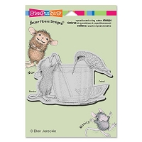 Stampendous - Cling Mounted Rubber Stamp - House Mouse Share A Sip