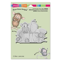 Stampendous - Cling Mounted Rubber Stamp - House Mouse Sing A Song