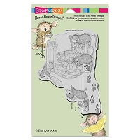 Stampendous - Cling Mounted Rubber Stamp - House Mouse Cookie Bandits
