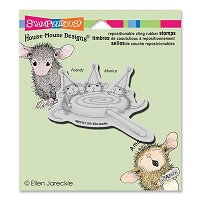 Stampendous - Cling Mounted Rubber Stamp - House Mouse Lollipop Lunch